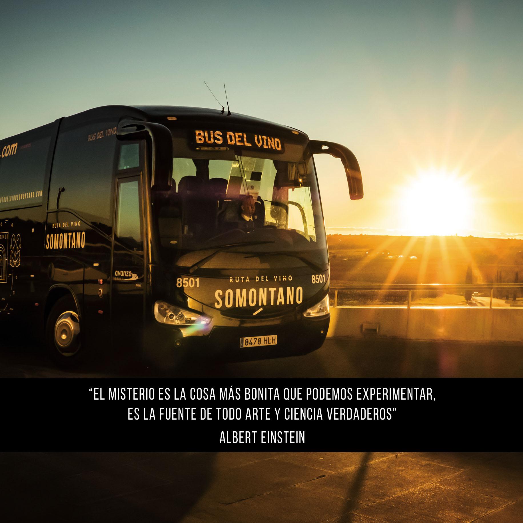 El bus del vino de Somontano 2018