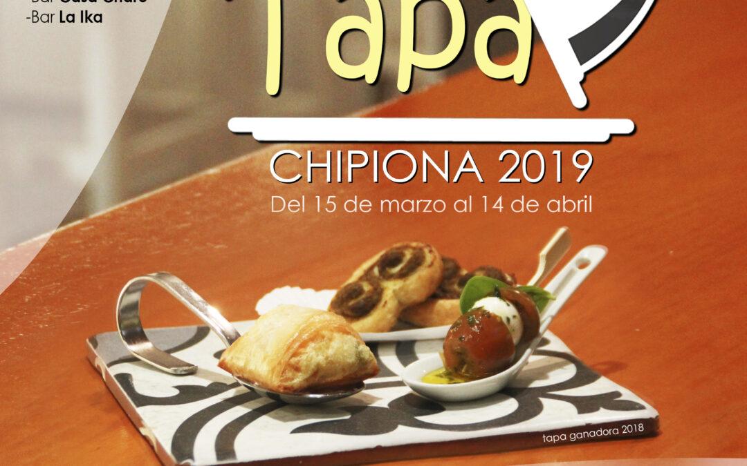 RUTA DE LA TAPA CHIPIONA 2019
