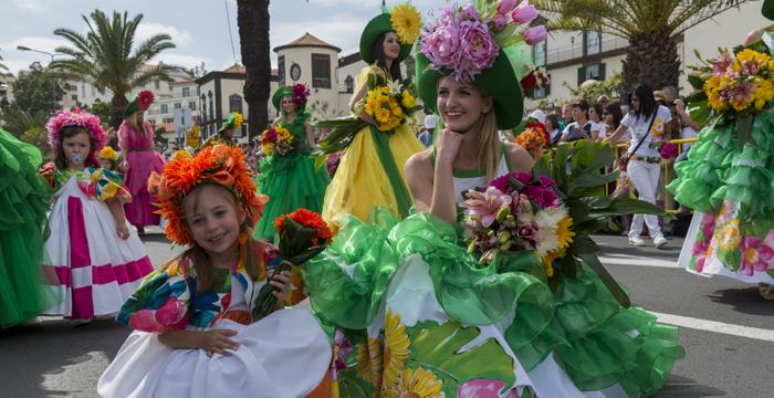Fiesta de la Flor y del vino en Madeira