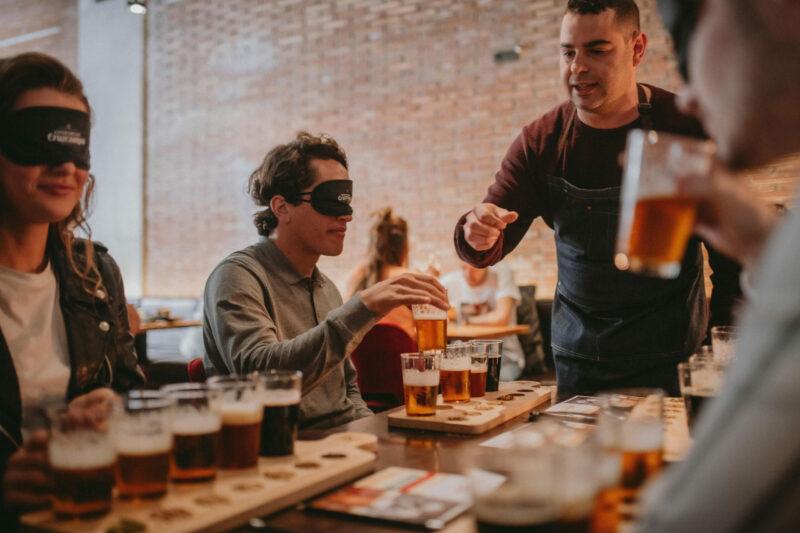 cata ciegas cerveza Cruzcampo