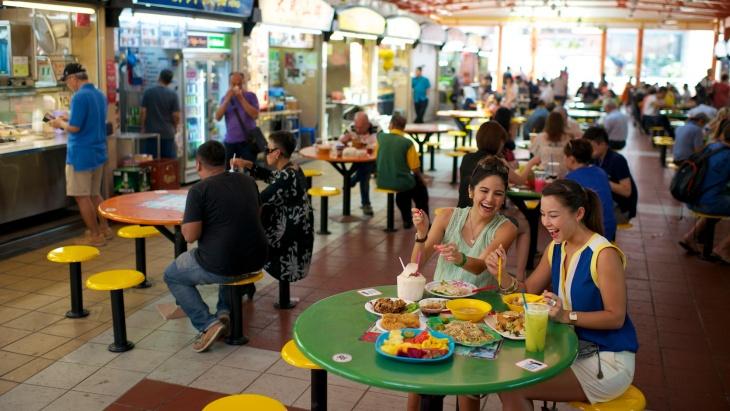 Los hawkers en Singapur, gastronomía cultural