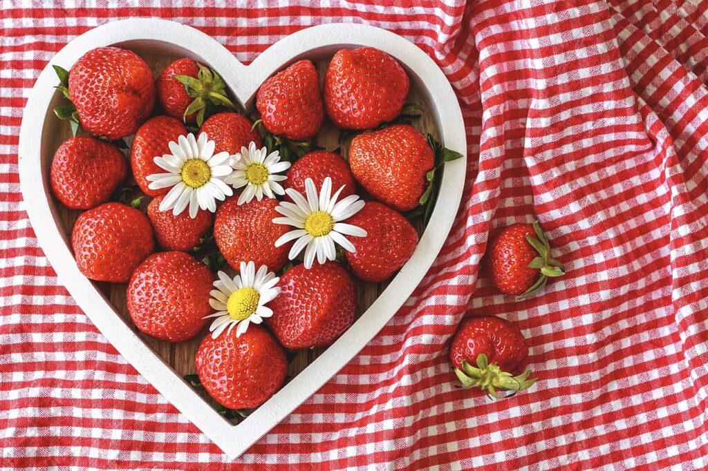 fresas corazón